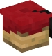 Graduation Cap (red, black)