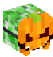 Creeper with Pumpkin Mask