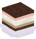 Ice Cream Sandwich (neapolitan,plated)