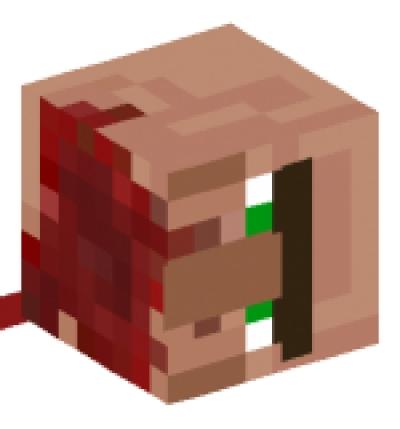 Decapitated villager - Minecraft head decoration ...