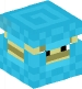 Shulker (light blue, upsidedown)